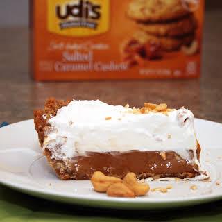 Caramel Pie with Udi's Caramel Cashew Cookie Crust.
