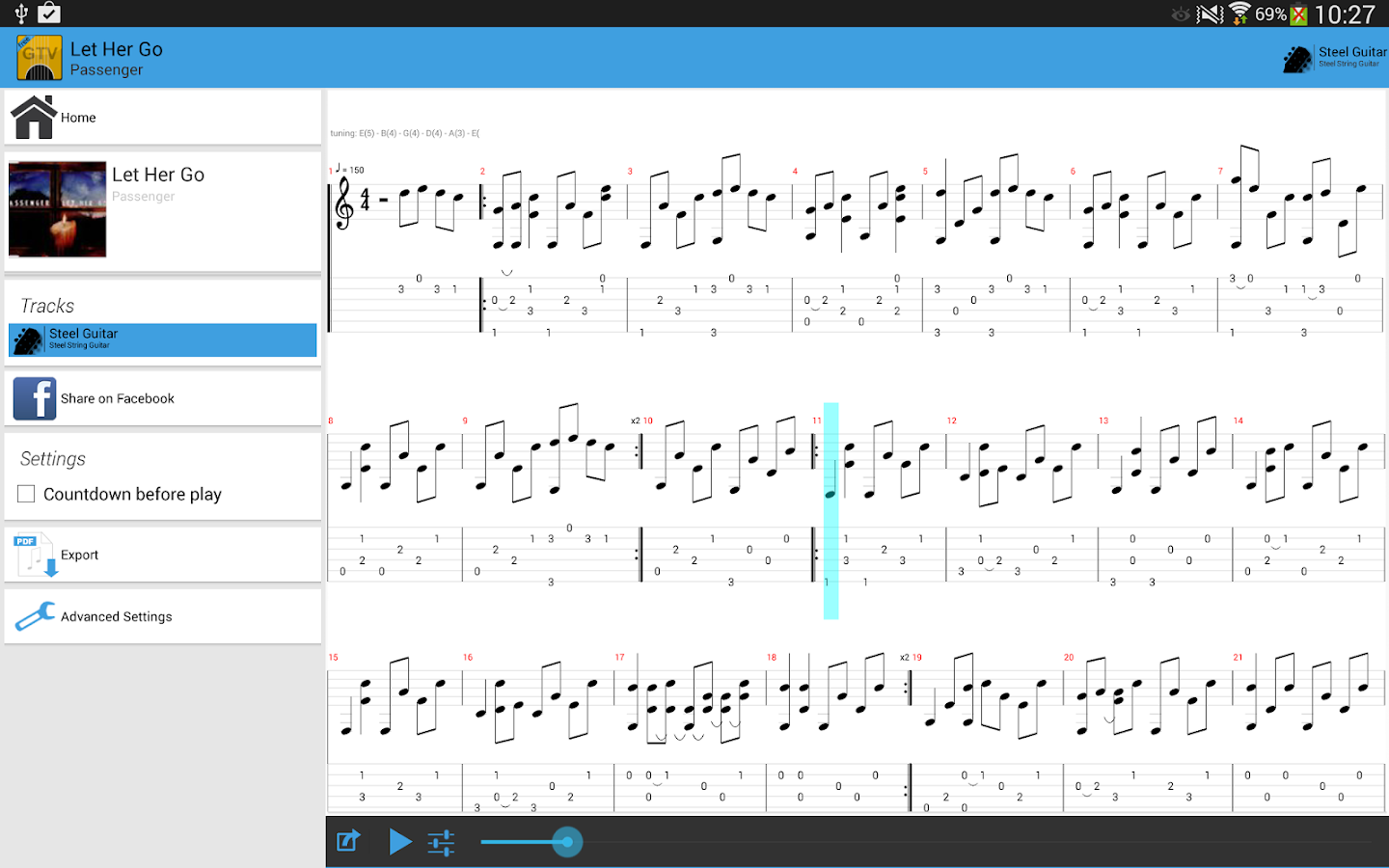 Guitar Tab Viewer - screenshot