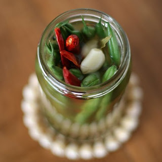 Spicy Pickled Green Beans.