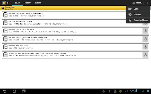A+ VCE Exams Player - screenshot thumbnail