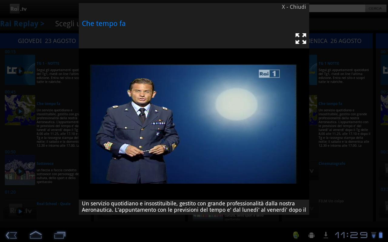 Rai TV - screenshot