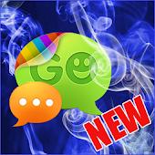 GO SMS Pro Blue Smoke Theme