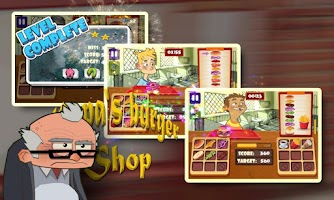 Screenshot of Papa's Burger Shop