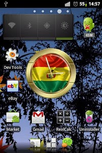 Bolivia flag clocks screenshot 1