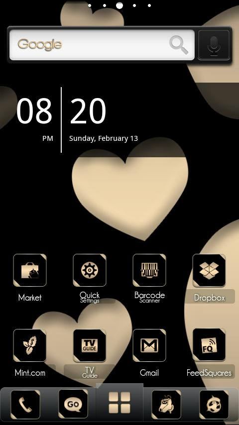 ADW Theme BlackGold - screenshot