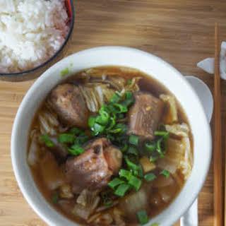 Oxtail Soup Recipe (Ushi Nu Jubuni Nu Shimun).