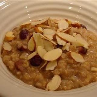Rice and Raisin Breakfast Pudding