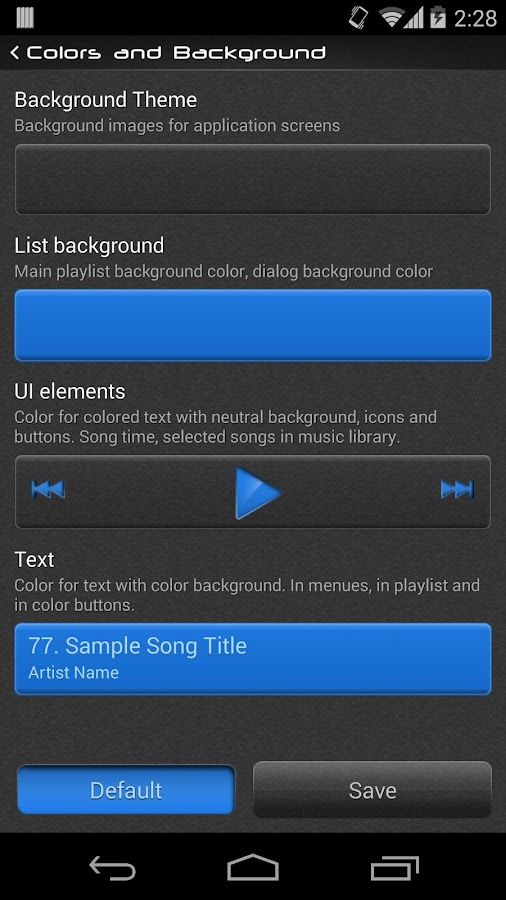 NRGplayer music player - screenshot