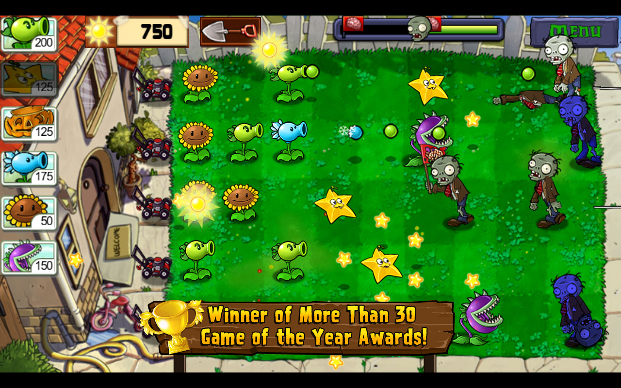 Plants vs. Zombies- screenshot