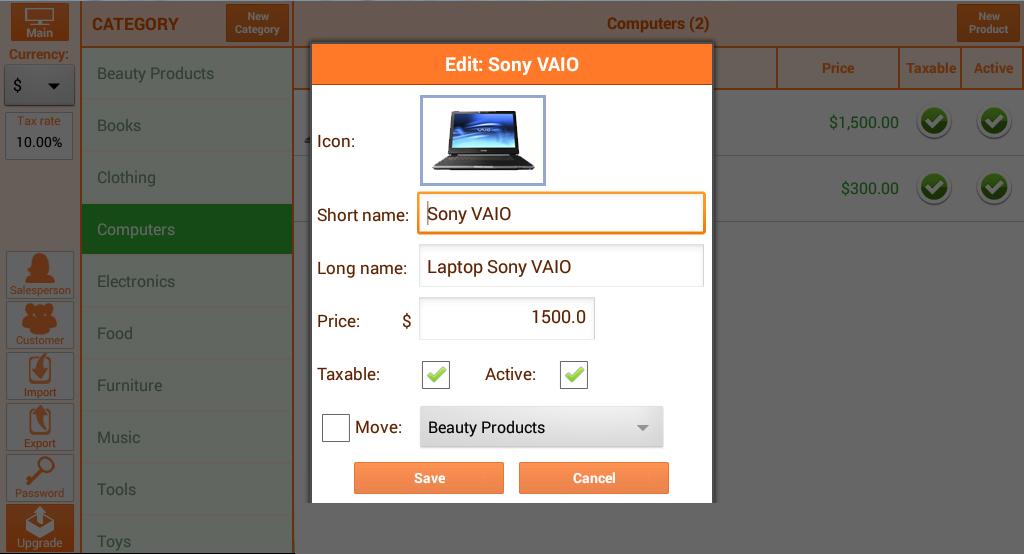 Instant Cash Register - screenshot