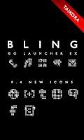 Screenshot of BlackBling GoLauncher EX Theme