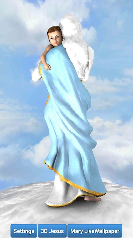 3d Mother Mary Live Wallpaper Android Apps On Google Play