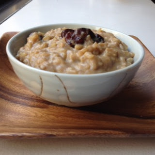 Maple Rice Pudding With Bourboned Cherries.