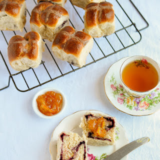 Berry-filled Hot Cross Buns & Breakfast Braid