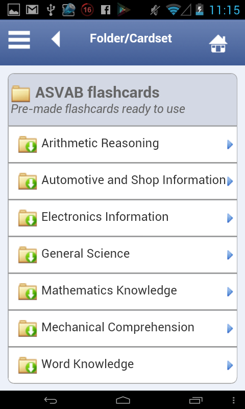 ASVAB Flashcards - screenshot
