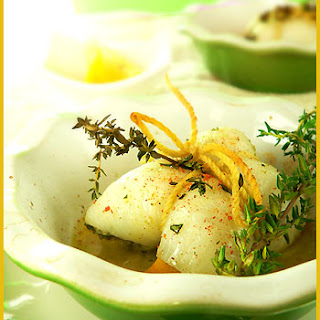 Sole Roulades with Herbs and Lemon.