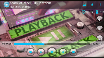 Screenshot of BSPlayer ARMv6 VFP CPU support