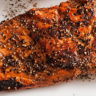 Soy Peppered Salmon.