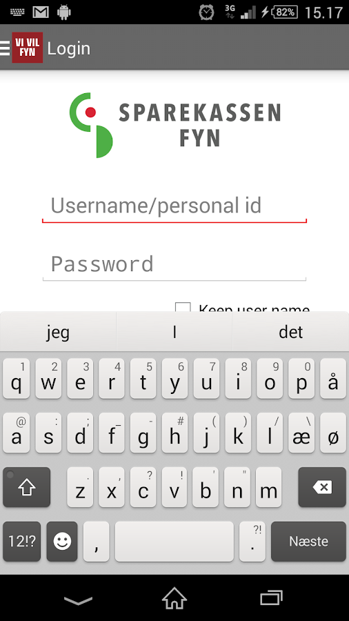 Sparekassen Fyn - screenshot