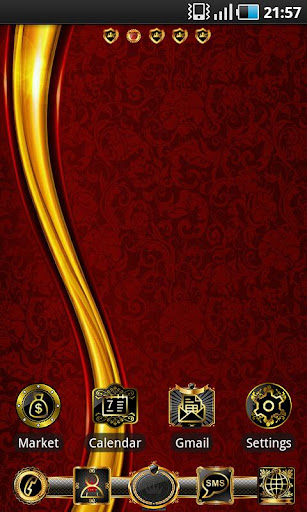 Luxury Gold theme GO Launcher v1.1
