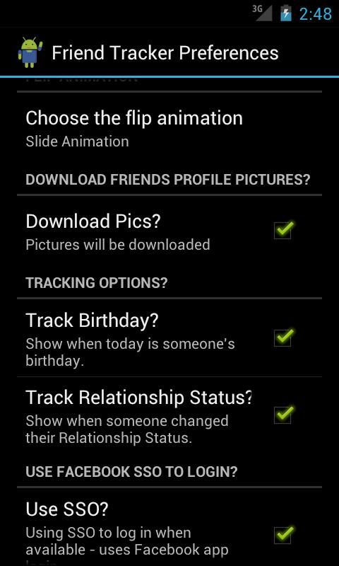 Friend Tracker (Facebook) - screenshot
