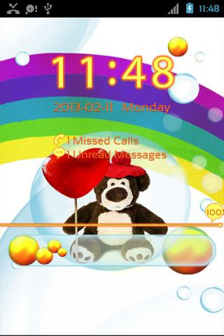 GO Locker Cute Teddy Bear - screenshot