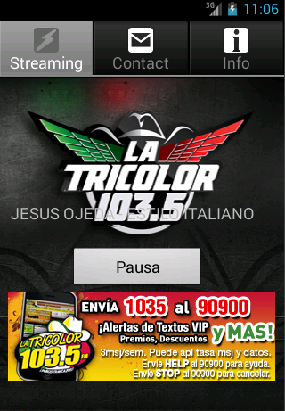 La Tricolor 103.5 - screenshot