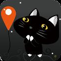 黑猫-精准定位 logo