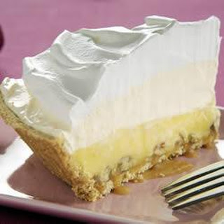 Triple-Layer Eggnog Pie