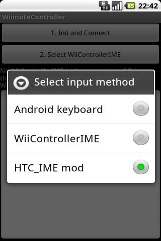 Wiimote Controller - screenshot