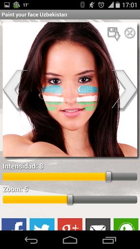 Paint your face Uzbekistan
