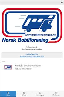 Norsk Bobilforening- screenshot thumbnail