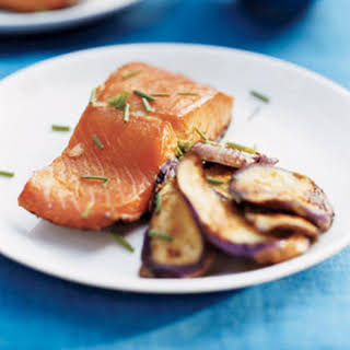 Grilled Miso Salmon and Eggplant.