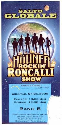 Eintrittskarte für Roncalli