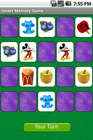 Smart Memory Game - screenshot