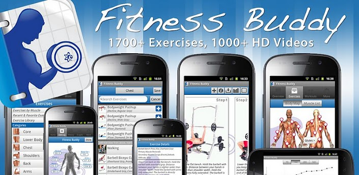 Fitness Buddy : 1700 Exercises