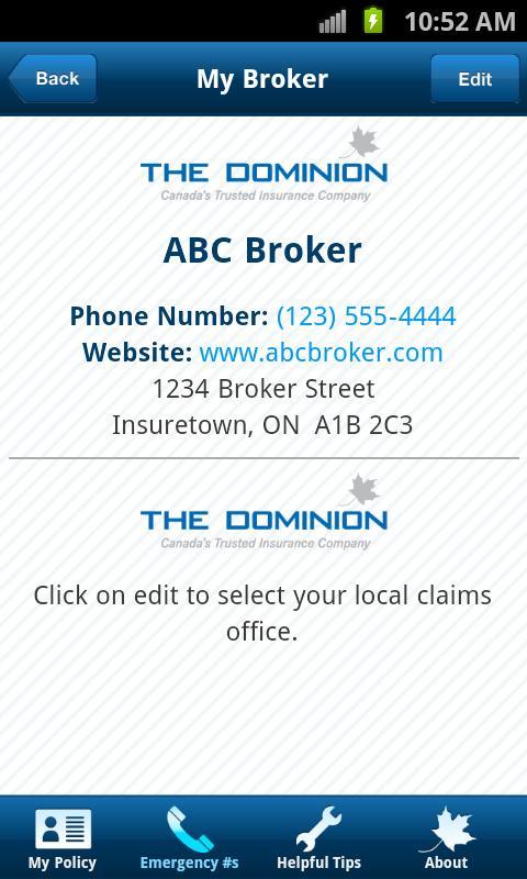The Dominion: Insurance Help - screenshot