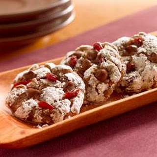 Chocolate Anise Cookies with Dried Cherries