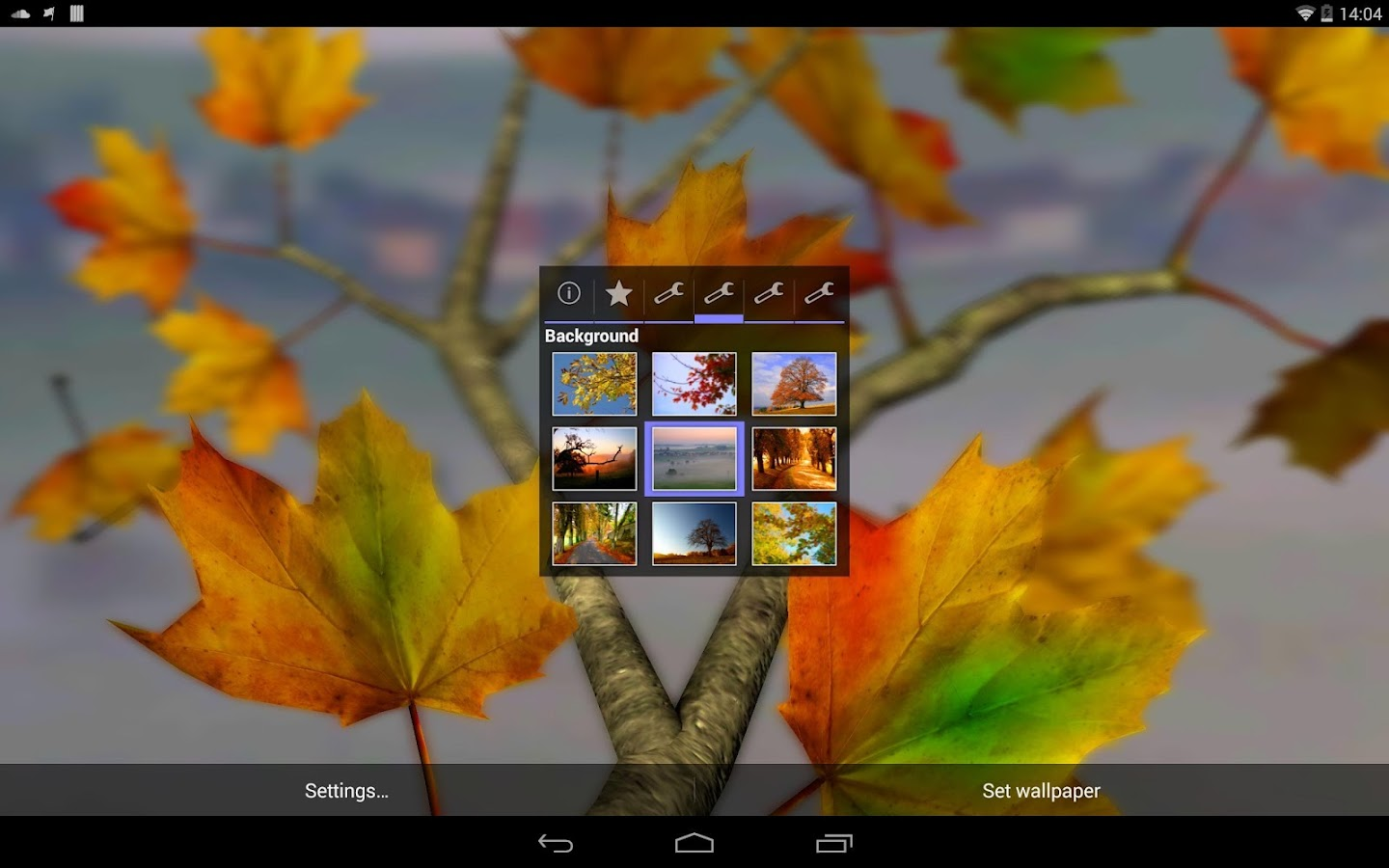 Autumn Leaves in HD Gyro 3D XL  Parallax Wallpaper- screenshot