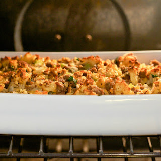 """Cornbread"" and Sausage Stuffing (Grain-Free, Paleo)"