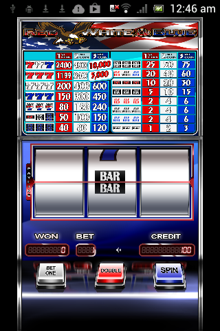 Red White Blue 777 Slot HD