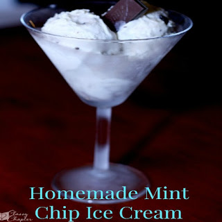 Mint Chip Homemade Ice Cream