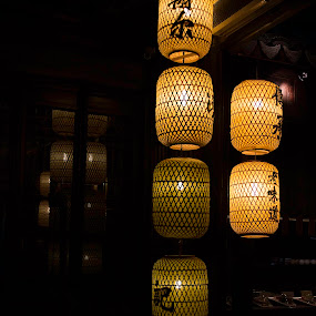 CHINESE LANTERNS by Tom Reiman - Artistic Objects Other Objects ( lantern, colorful, restaurant, china,  )