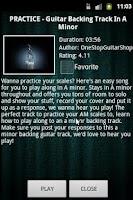 Screenshot of Guitar Backing Tracks