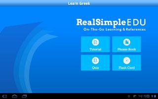 Screenshot of Learn Greek for Tablet