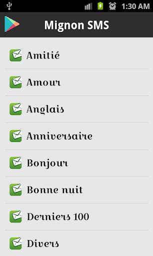 1000+ Mignon SMS Française