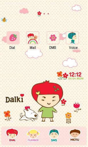 CUKI Theme Dalki pink flowers