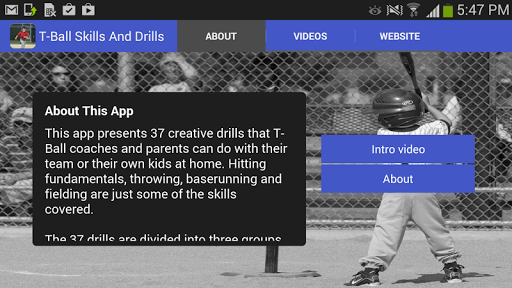 T Ball Skills And Drills
