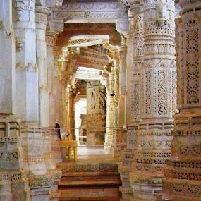 Pillars by Vikas Jorwal - Buildings & Architecture Architectural Detail ( temple, rajasthan, jain, historical, ranakpur,  )