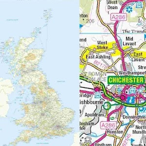 Great Britain Road Atlas Map